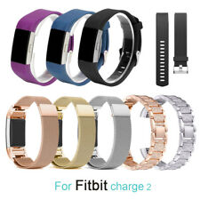 Smart Watch Strap Wrist Band Stainless Steel Crystal Classic For Fitbit Charge 2