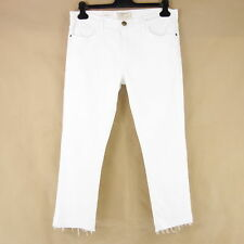 actual Elliott Pantalones Vaqueros De Mujer The Recortada Recto W28 W29 blanco