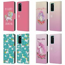 HEAD CASE DESIGNS SASSY UNICORNS LEATHER BOOK WALLET CASE FOR HUAWEI PHONES