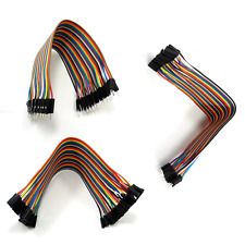 3 Types 40pcs Dupont Wire Breadboard Jump Ribbon Cables Lead Jumper Arduino