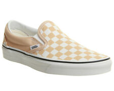 Womens Vans Vans Classic Slip On Trainers Apricot True White Trainers Shoes