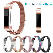 Magnetic Milanese Stainless Steel Watch Band Strap For Fitbit Alta/ Alta HR