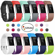Silicone Wristband Wrist Strap Band Replacement For Fitbit Charge 2 Tracker