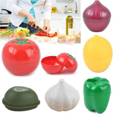 VEGETABLE CONTAINERS ONION LEMON PEPPER KEEPER FOOD SAVERS KITCHEN TOOL UK