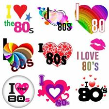 Personalize I Love The 80s Flash Back Iron On Heat T-Shirt Transfer 6021737 ®