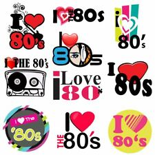 I Love The 80s Flash Back Iron On Heat T-Shirt Transfer Personalize 6021741®