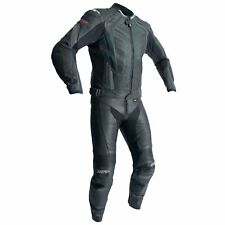 RST R-18 CE Mens Leather Motorcycle Bike Jeans / Trousers / Pants | Black