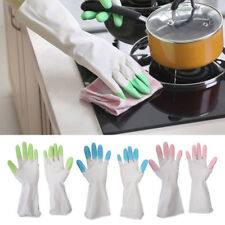 Waterproof Rubber Latex Long Washing Gloves Kitchen Dish Home Household Cleaning
