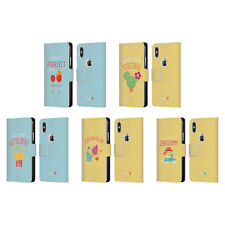 OFFICIAL MUY POP SUNNY SIDE UP MIX LEATHER BOOK CASE FOR APPLE iPHONE PHONES