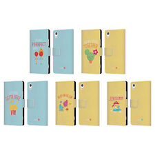 OFFICIAL MUY POP SUNNY SIDE UP MIX LEATHER BOOK WALLET CASE FOR SONY PHONES 1