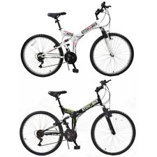 "Stowabike 26"" MTB V2 Folding Dual Suspension 18sp Gears Mountain Bike"