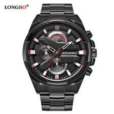 LONGBO 2018 Fashion Military Men Wristwatch Luxury Casual Stainless Steel Band S