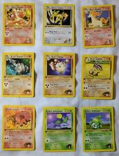 Pokemon Gym Challenge Trading Cards TCG  ● All 1ST EDITION Uncommon & Common ●