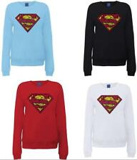 DC Comic DC Comics Official Superman Shatter Logo Womens Sweatshirt, Felpa da Do