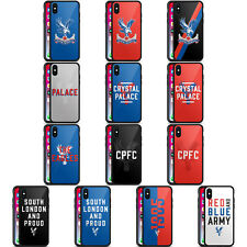 OFFICIAL CRYSTAL PALACE FC THE EAGLES BLACK HYBRID GLASS CASE FOR iPHONE PHONES