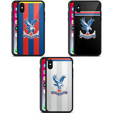 OFFICIAL CRYSTAL PALACE FC 2017/18 KIT BLACK HYBRID GLASS CASE FOR iPHONE PHONES