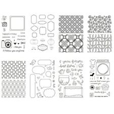 Transparent Silicone Clear Rubber Stamp Cling Diary Scrapbooking DIY Craft Decor