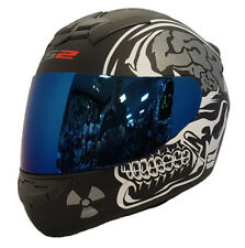 LS2 FF352 X-Ray Rookie Integrale da Moto Casco Antiurto in Blu Iridium Visiera