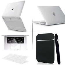 4-IN-1 Clear Rubberized Hard Case+KB Cover +Soft Bag for Macbook Pro 2018 New