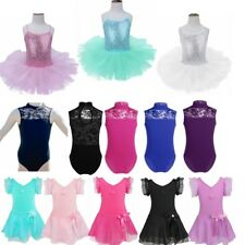 Girl Tutu Ballet Leotard Camisole Dance Dress Ballerina Fairy Dancewear Costume