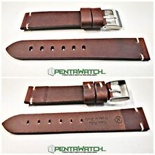 Cinturino Pelle Vintage made in italy marrone T.MORO Strap Leather ROLEX  brown