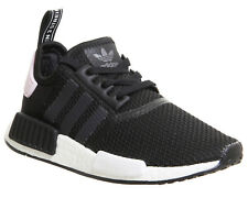 Womens Adidas Nmd R1 Trainers Core Black White Clear Pink Trainers Shoes