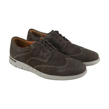 Clarks Unbyner Way Mens Gray Nubuck Casual Dress Lace Up Oxfords Shoes