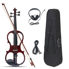 4/4 Electric Acoustic Violin Basswood Fiddle with Violin Case Cover Bow