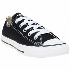 New Infants Converse Black All Star Ox Canvas Trainers Lace Up