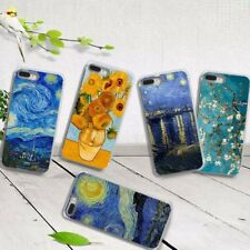 Ultra Slim van Gogh Pattern Rubber Soft TPU Back Case Cover for iPhone Samsung