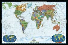 National Geographic Maps World Decorator Wall Map