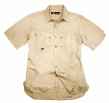 Safari Outdoor Manga Corta Camisa- Camisa Kingsland en Color Beige