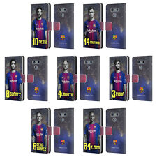 OFFICIAL FC BARCELONA 2017/18 FIRST TEAM 1 LEATHER BOOK CASE FOR LG PHONES 1