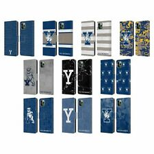 YALE UNIVERSITY 2018/19 PATTERNS LEATHER BOOK CASE FOR APPLE iPHONE PHONES