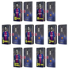 FC BARCELONA 2017/18 FIRST TEAM GROUP 1 LEATHER BOOK CASE FOR MOTOROLA PHONES 2
