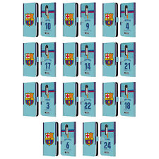 OFFICIAL FC BARCELONA 2017/18 AWAY KIT 1 LEATHER BOOK CASE FOR MOTOROLA PHONES 2