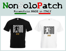 T-SHIRT CR7 CRISTIANO RONALDO MAGLIA MAGLIETTA JUVE JUVENTUS FRUIT OF THE LOOM