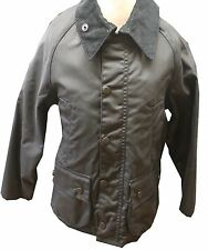 BOYS BARBOUR Bedale Waxed Jacket in Navy - Sizes S & M