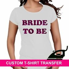 Hen Night Party Iron On TShirt Wedding Fabric Heat Transfer Bride To Be Marriage