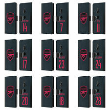 ARSENAL FC 2017/18 PLAYERS THIRD KIT GROUP 1 LEATHER BOOK CASE FOR SONY PHONES 1