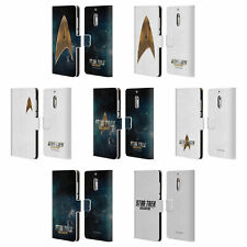 OFFICIAL STAR TREK DISCOVERY LOGO LEATHER BOOK CASE FOR MICROSOFT NOKIA PHONES