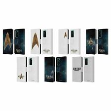 OFFICIAL STAR TREK DISCOVERY LOGO LEATHER BOOK WALLET CASE FOR HUAWEI PHONES