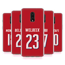 OFFICIAL ARSENAL FC PLAYERS HOME KIT 17/18 1 GEL CASE FOR AMAZON ASUS ONEPLUS