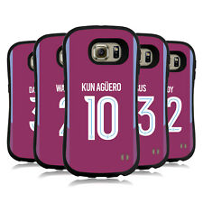 MAN CITY FC 2017/18 PLAYERS AWAY KIT GROUP 2 HYBRID CASE FOR SAMSUNG PHONES
