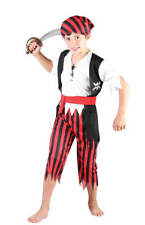CHILD BOYS CARIBBEAN CUTLASS PIRATE CAPTAIN COSTUME FANCY DRESS