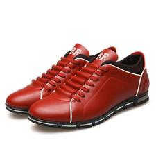 Mens Running Trainer Sports Shoes Casual Breathable Athletic Sneakers PU Leather
