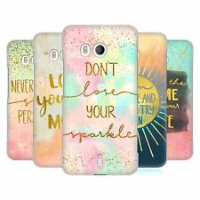 HEAD CASE DESIGNS GOLD QUOTES HARD BACK CASE FOR HTC PHONES 1
