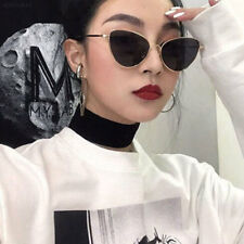 0816 Women Sunglasses Lens Oval Frame Cat Eye Oversized Fashion Style Anti-UV