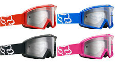 Fox Racing Motocross Main Pro Steel Faith Strap Clear Goggle In Stock 09251