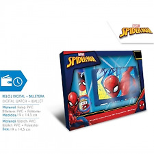 Spiderman MV15408. Set digital. Reloj y billetera.